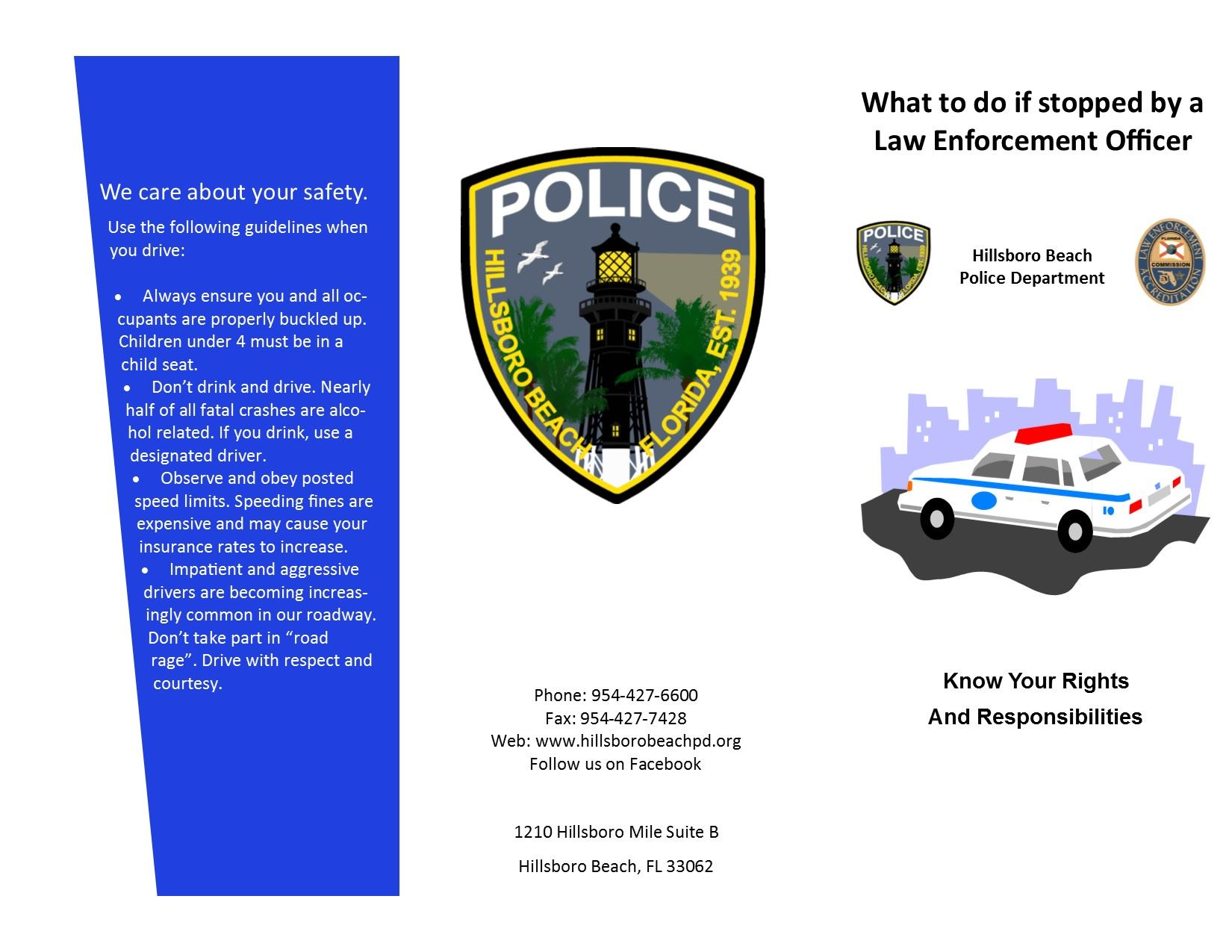 Traffic Stop Brochure Page 1