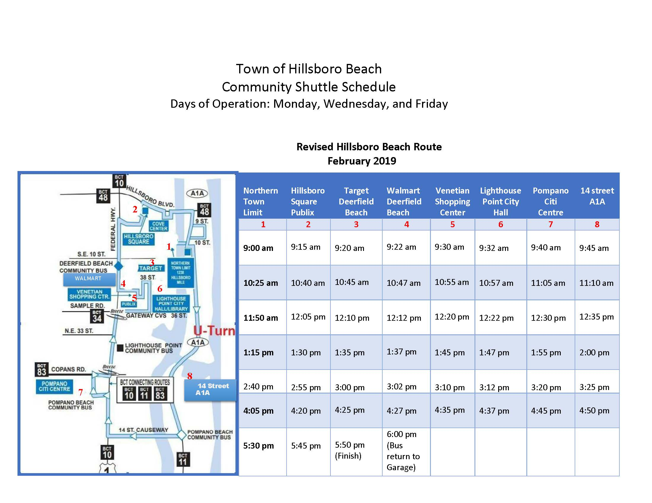 Revised Hillsboro Beach Route (Modified - street closures) 3