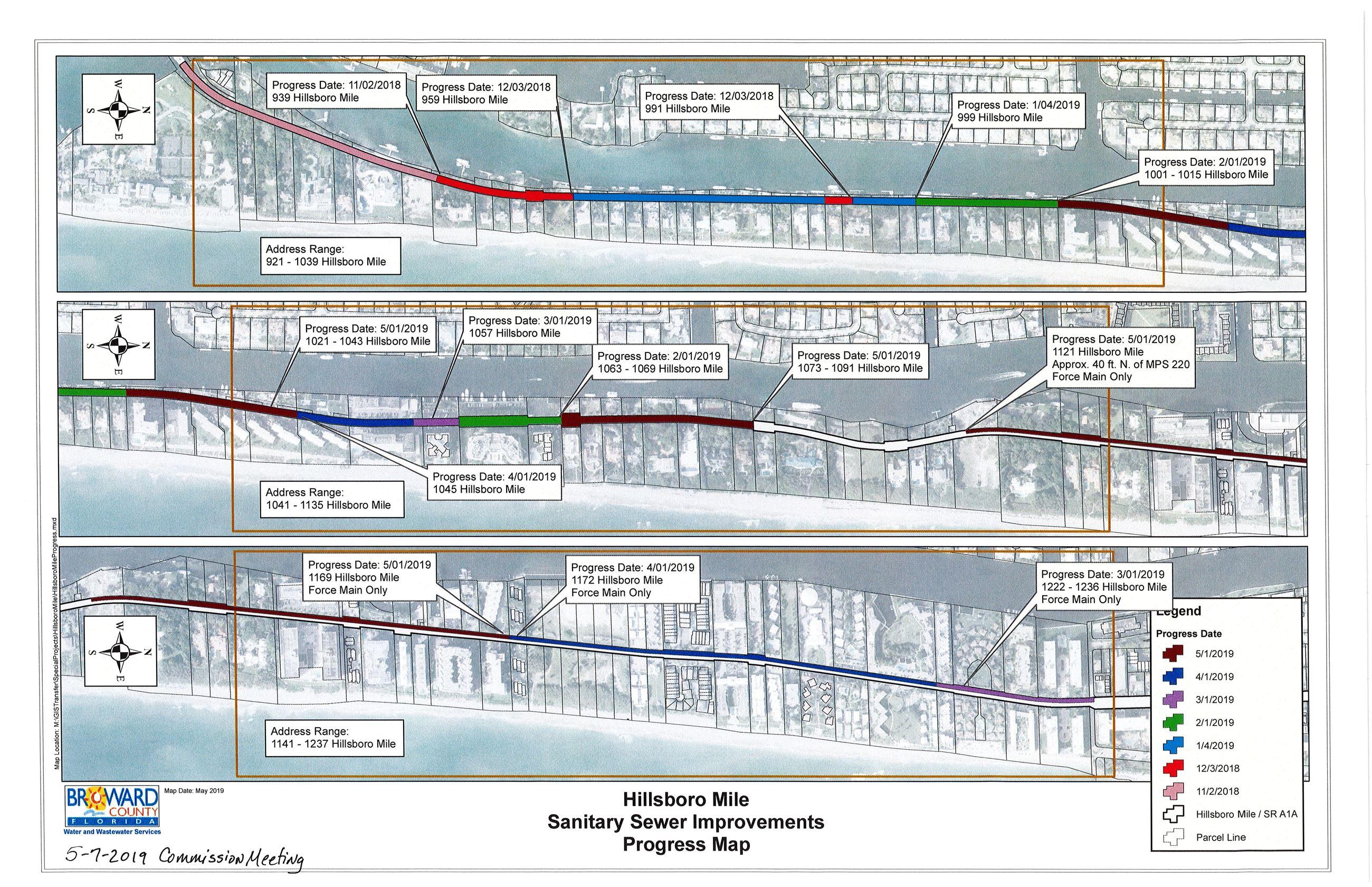 Sewer Improvements Progress Map (5-7-2019)